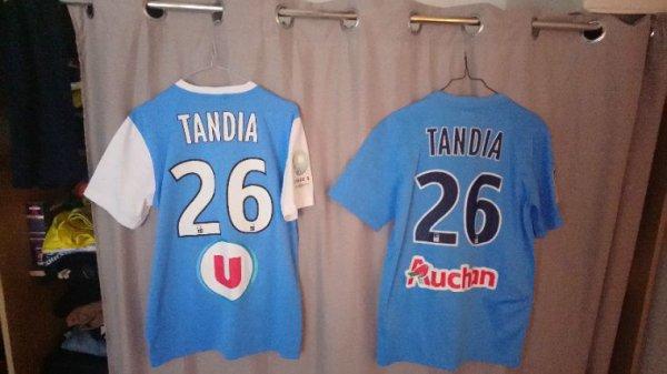 Maillots domicile Nike saisons 2014-2015 et 2015-2016 portés par I.Tandia