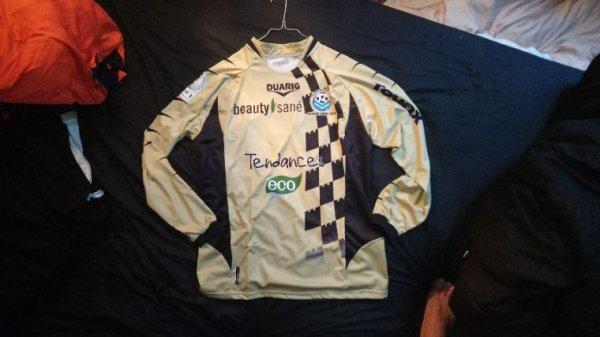 Maillot Tours Fc Gardien saison 2009-2010 porté par B.Leroy