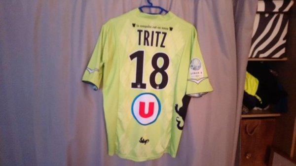 Maillot Tours Fc extérieur saison 2012-13 porté par S.Tritz