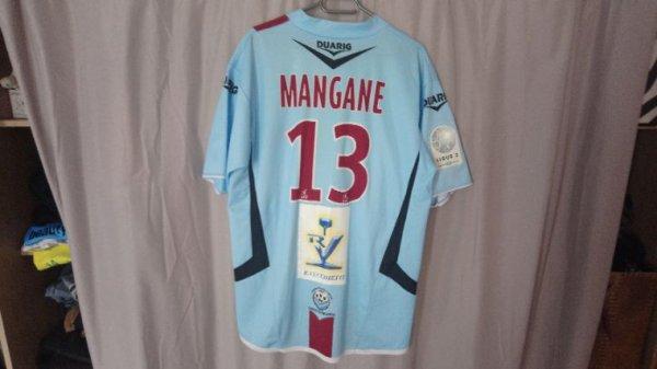 Maillot collector Tours Fc / Fc Metz saison 2008-09 porté par M.Mangane
