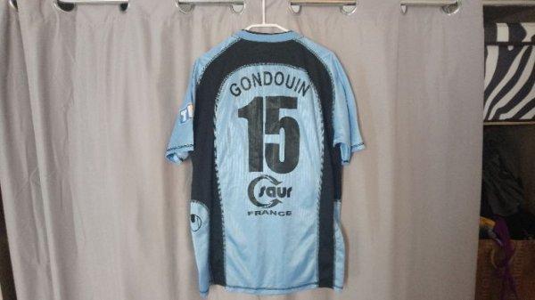 Maillot Tours Fc National domicile saison 2004/2005 porté par S.Gondouin