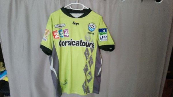 Maillot Tours Fc Coupe de la Ligue Spécial saison 2013-14 préparé pour B.Menoret face à Clermont Ferrand
