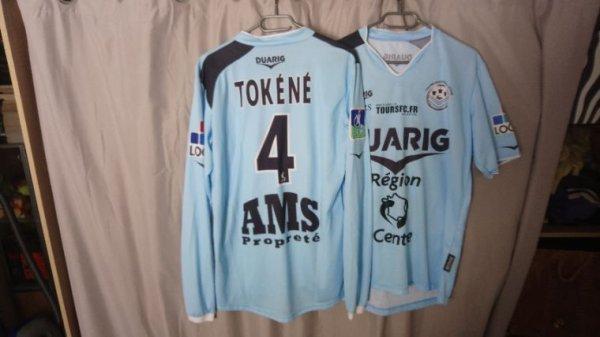 Maillot Tours Fc domicile saison 2006-07 porté par B. Tokéné