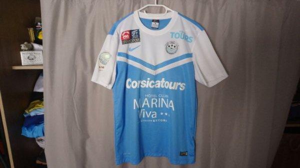 Maillot Tours Fc domicile saison 2014-15 porté par B. Bergougnoux
