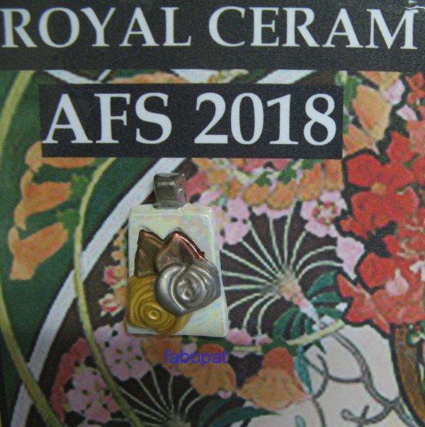 PENDENTIF ROSE  2018  Royal Céram