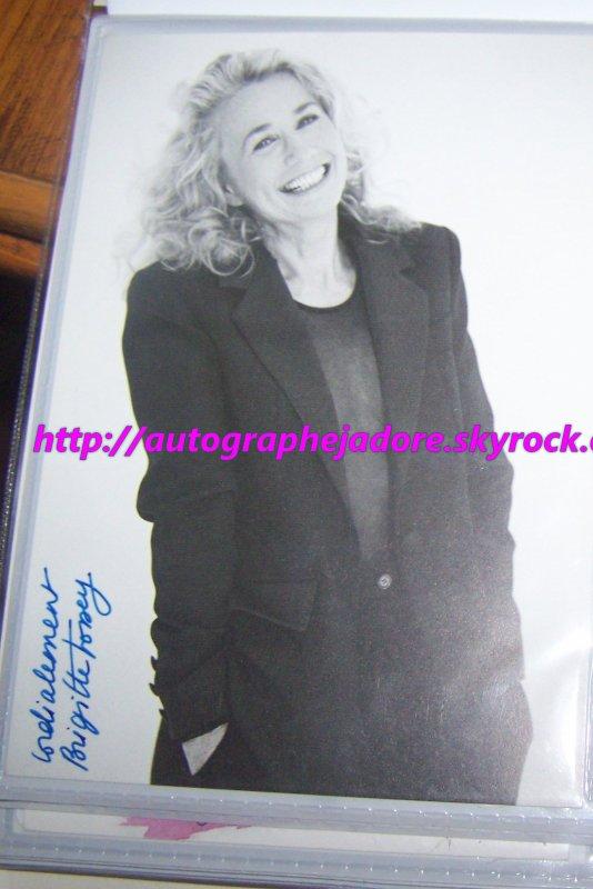 autographe de brigitte fossey