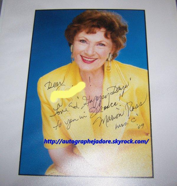 autographe de Marion Ross