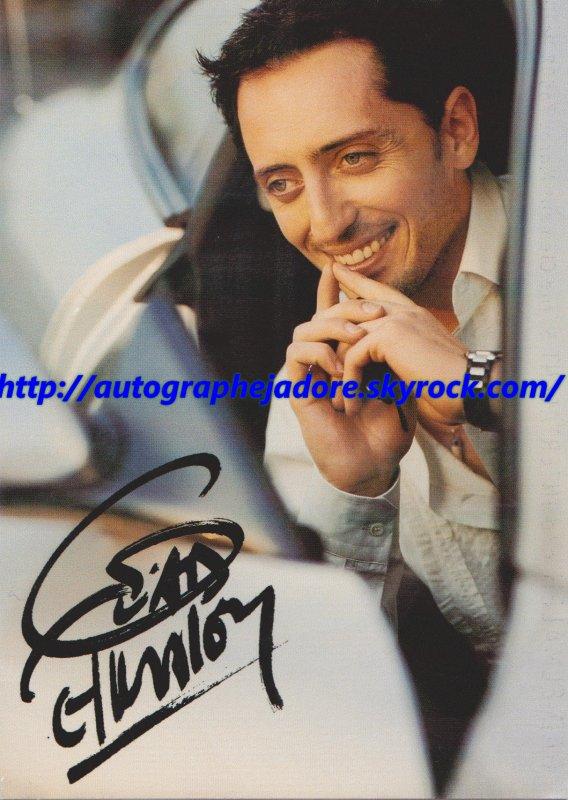 autographe  de Gad Elmaleh