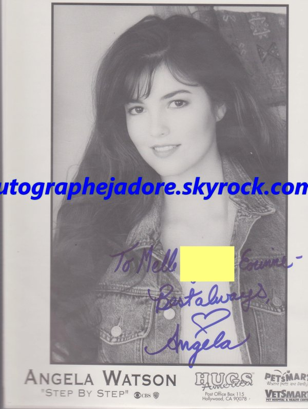 autographe Angela Watson