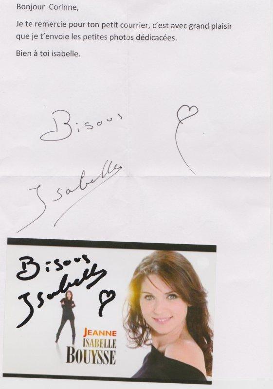 autographe de Isabelle Bouysse : Jeanne Garnier