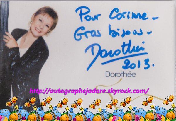 autographe de  Dorothée
