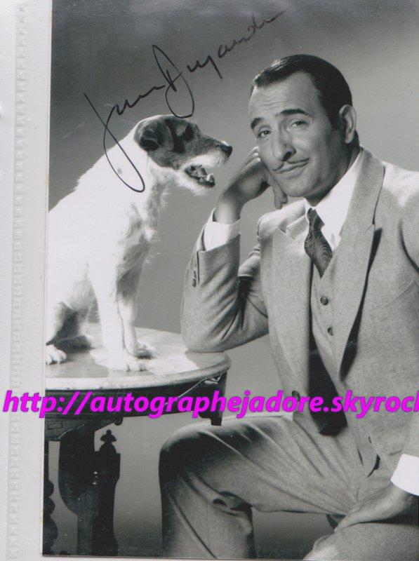 autographe de  Jean Dujardin