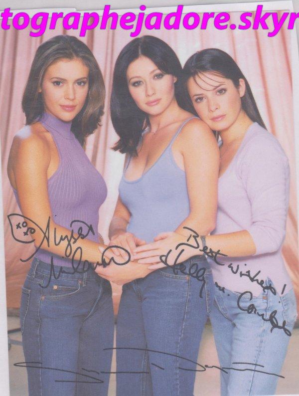 """autographe des personnages de la serie """"'Charmed''"""