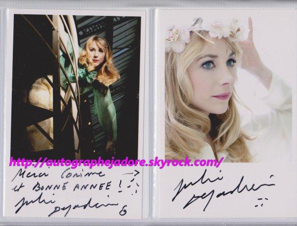autographe de Julie Depardieu
