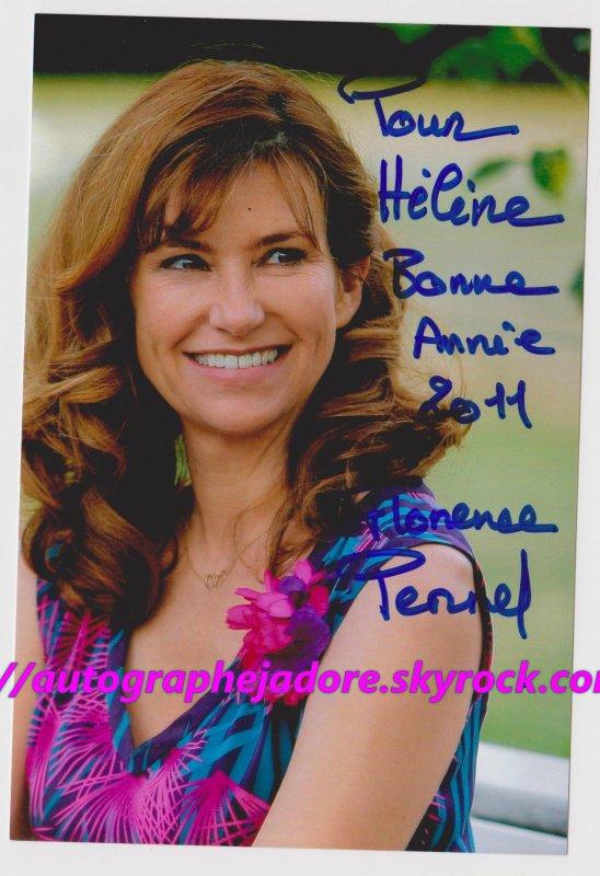 """autographe de Florence Pernel """"Le juge est une femme"""""""