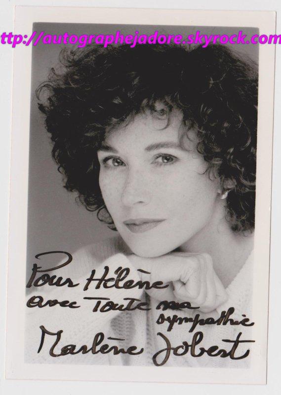 autographe de Marlène Jobert