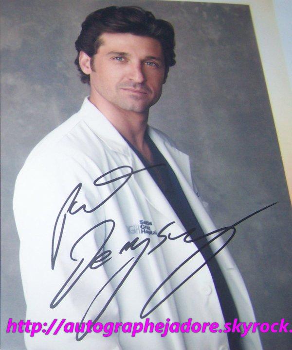 autographe de Patrick Dempsey