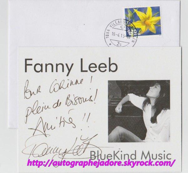 autographe de fanny leeb de the voice