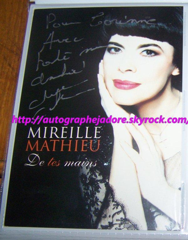 autographe de  Mireille Mathieu