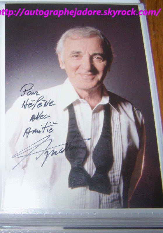 autographe de Charles Aznavour