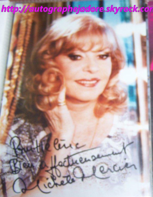 autogrphe de Michèle Mercier