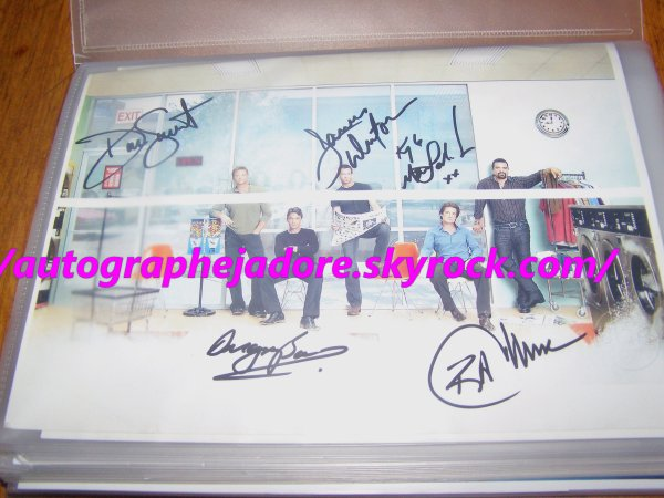 autographe des acteurs masquulin de la serie  Desperate Housewives