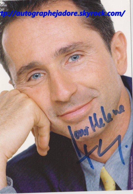 autographe de thierry lhermitte