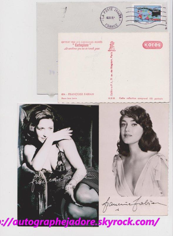 autographe de Françoise Fabian,