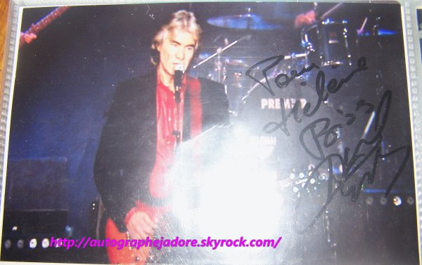 autographe de Daniel Guichard