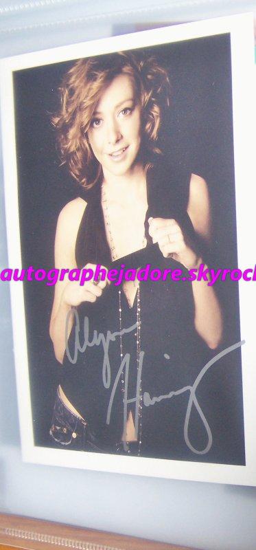 autographe de Alyson Hannigan