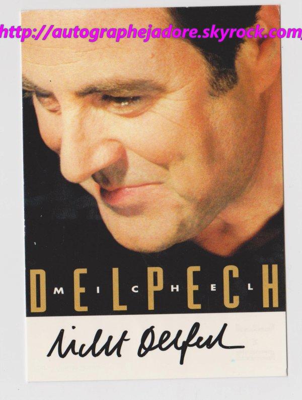 autographe de Michel Delpech