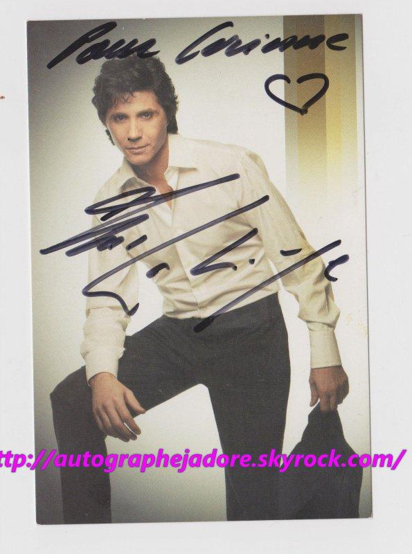autographe de Jean-Luc Lahaye .