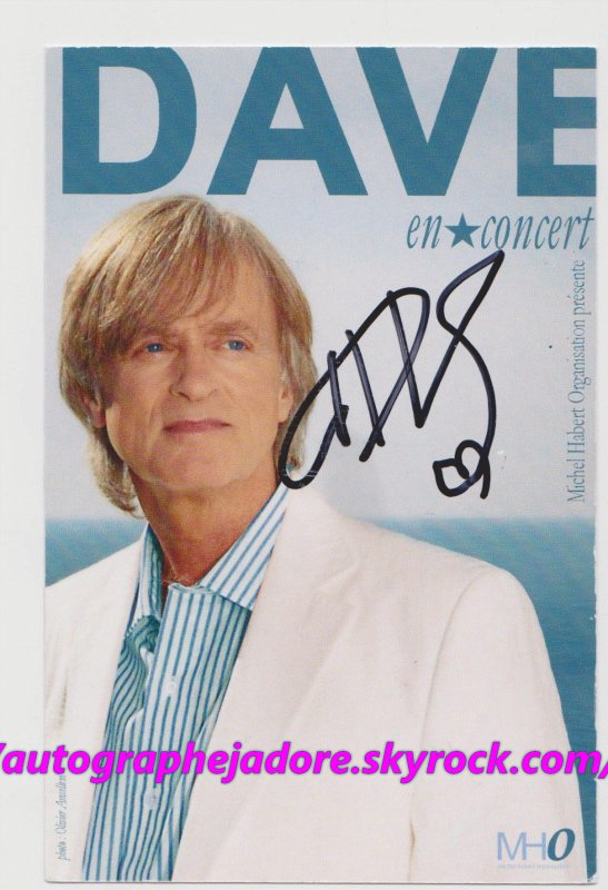 autographe de Dave