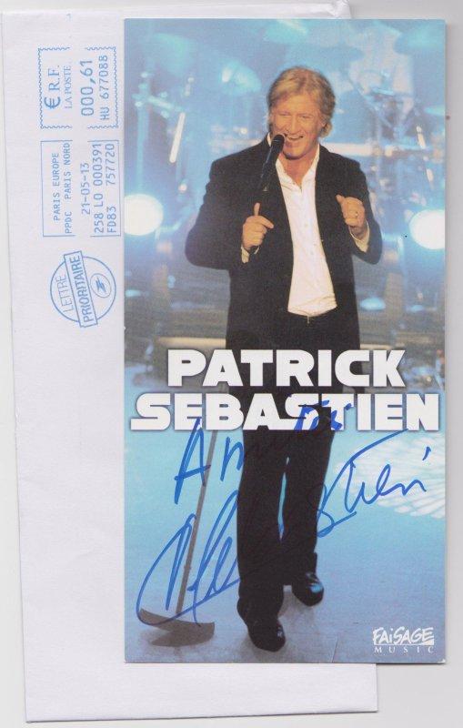 autographe de Patrick Sébastien