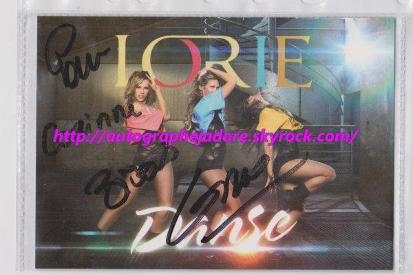 autographe de LORIE