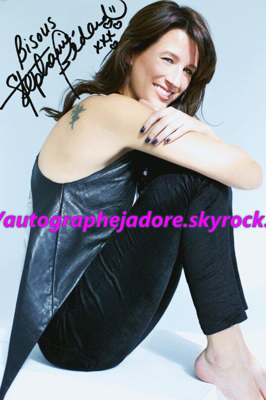 autographe de Stéphanie Bédard