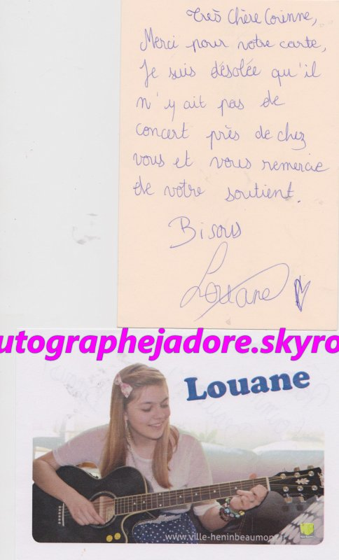 autographe Louane (The Voice)