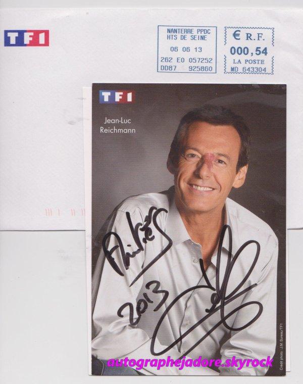 autographe de Jean-Luc Reichmann