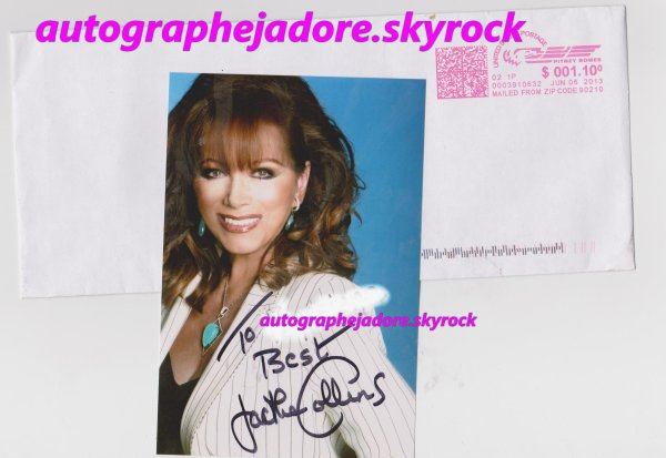 autographede jackie collins