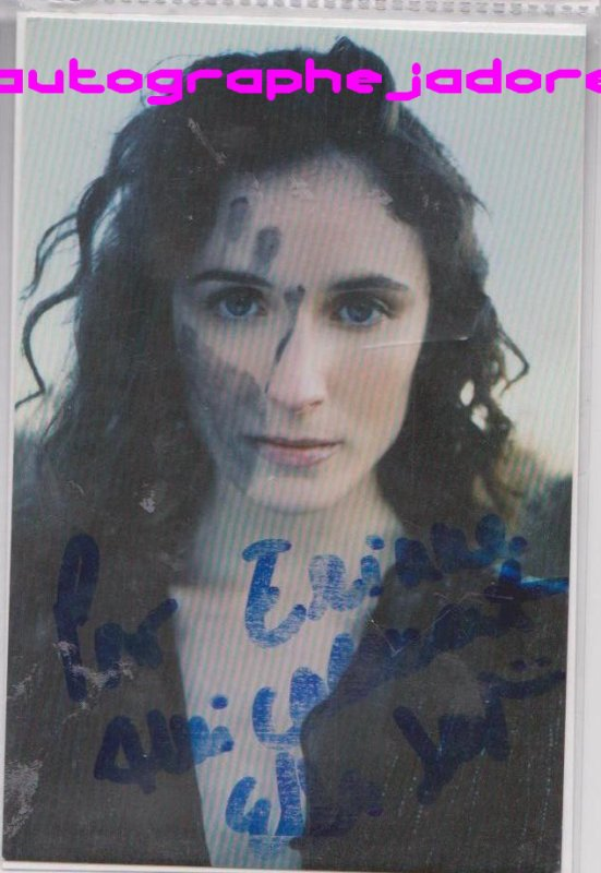 autographe de Elsa Lunghini