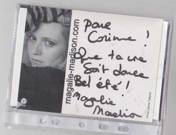 autographe de Magalie Madison  et Bruno Le Millin
