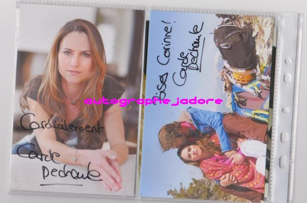 autographe de Carole Dechantre