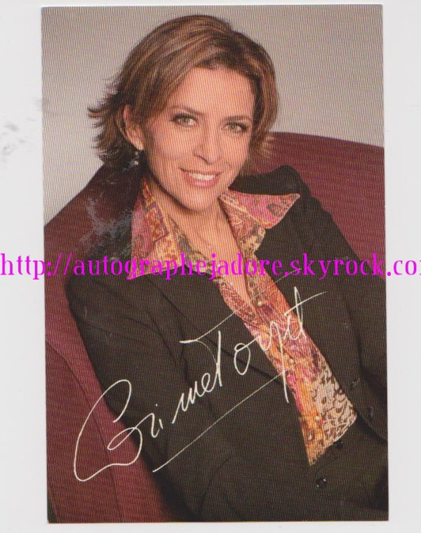autographe de Corinne Touzet