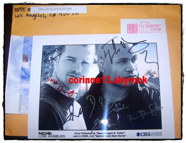 autographe NCIS : Los Angeles