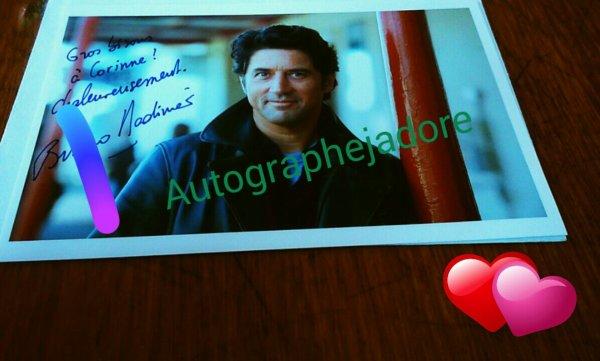 Autographe de. Bruno Madimier