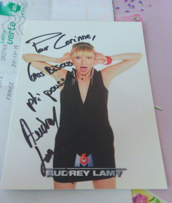 Autographe de Audrey Lamy