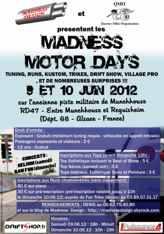 Madness motor day