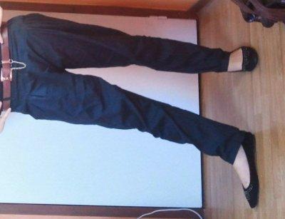 Pantalon carotte >>> NOIR / BEIGE
