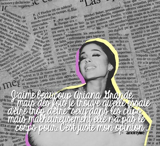 Deuxième Confession : Ariana Grande