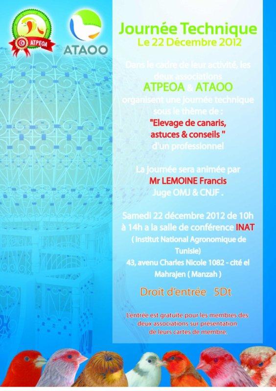 1ére Journée technique en Tunisie : élevage de canaris